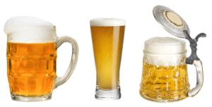 kufle szklanki piwa